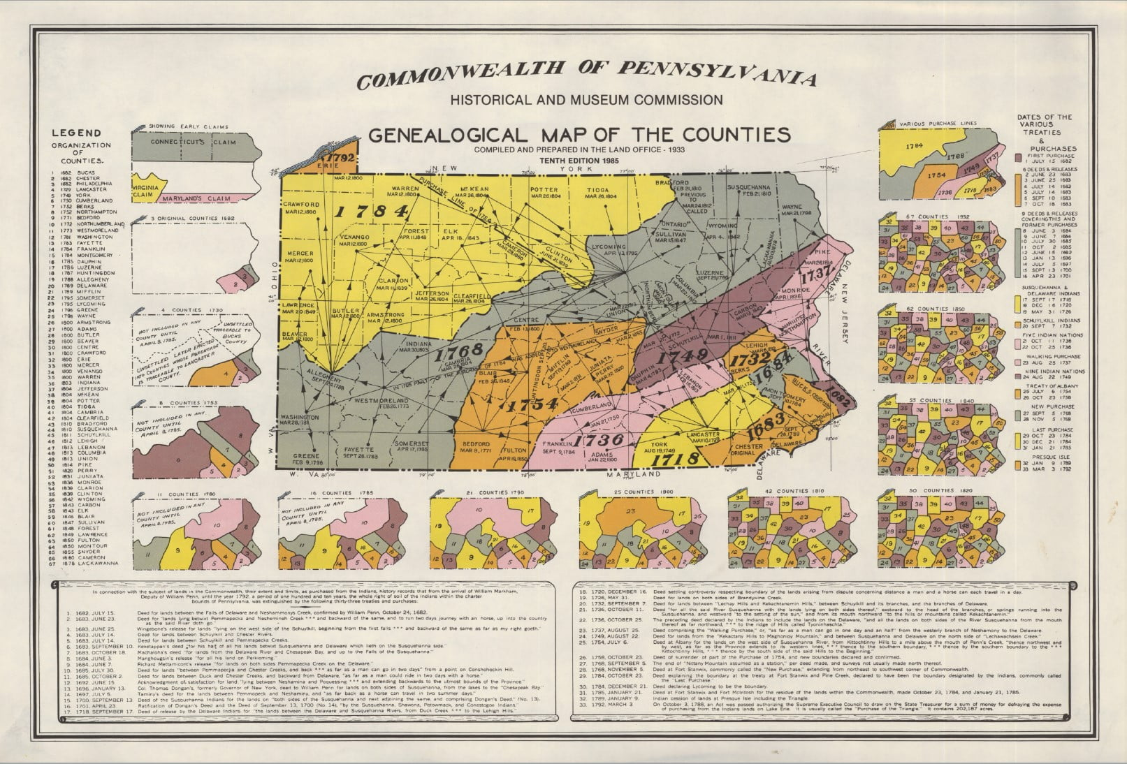 Picture of: Organization Of Counties In Pennsylvania Pennsylvania Genealogy