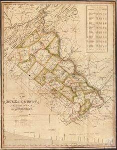 1831 Bucks County Pennsylvania Map