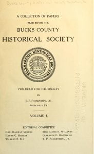 A Collection of papers read before the Bucks County Historical Society vol 1